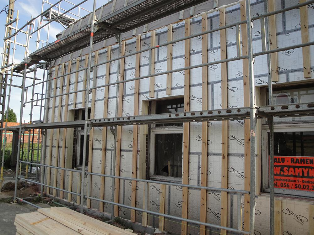 PIR izolace fasada